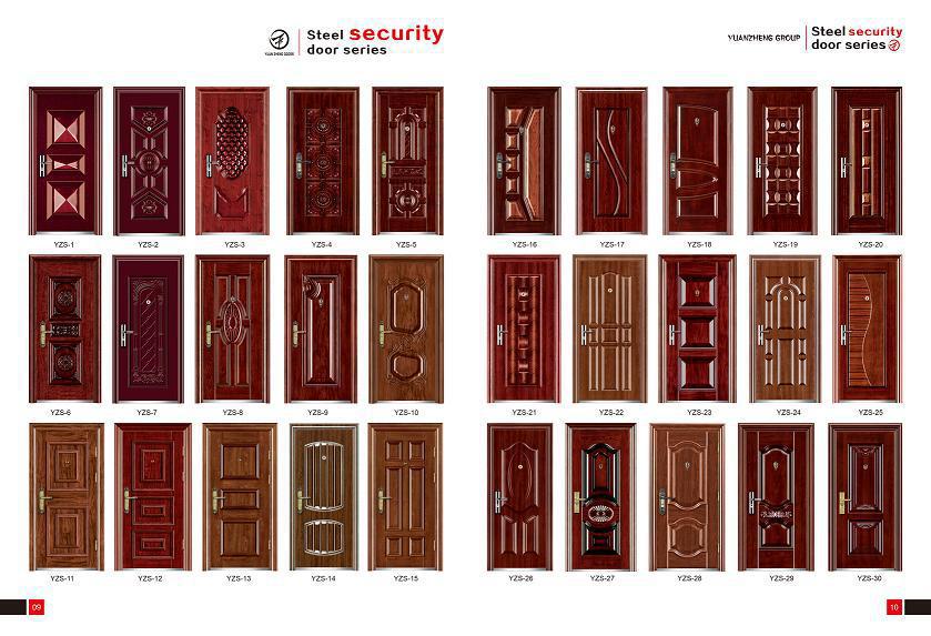 Wuyi Manufacturer Safety Iron Main Door Design Hot Sale In Iran ...