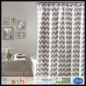 Brown And White Design Shower CurtainsCurtain Shop