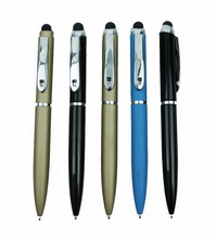 Fat twist design ballpoint pen with Ergonomics touch top in rubberized soft-feeling finish