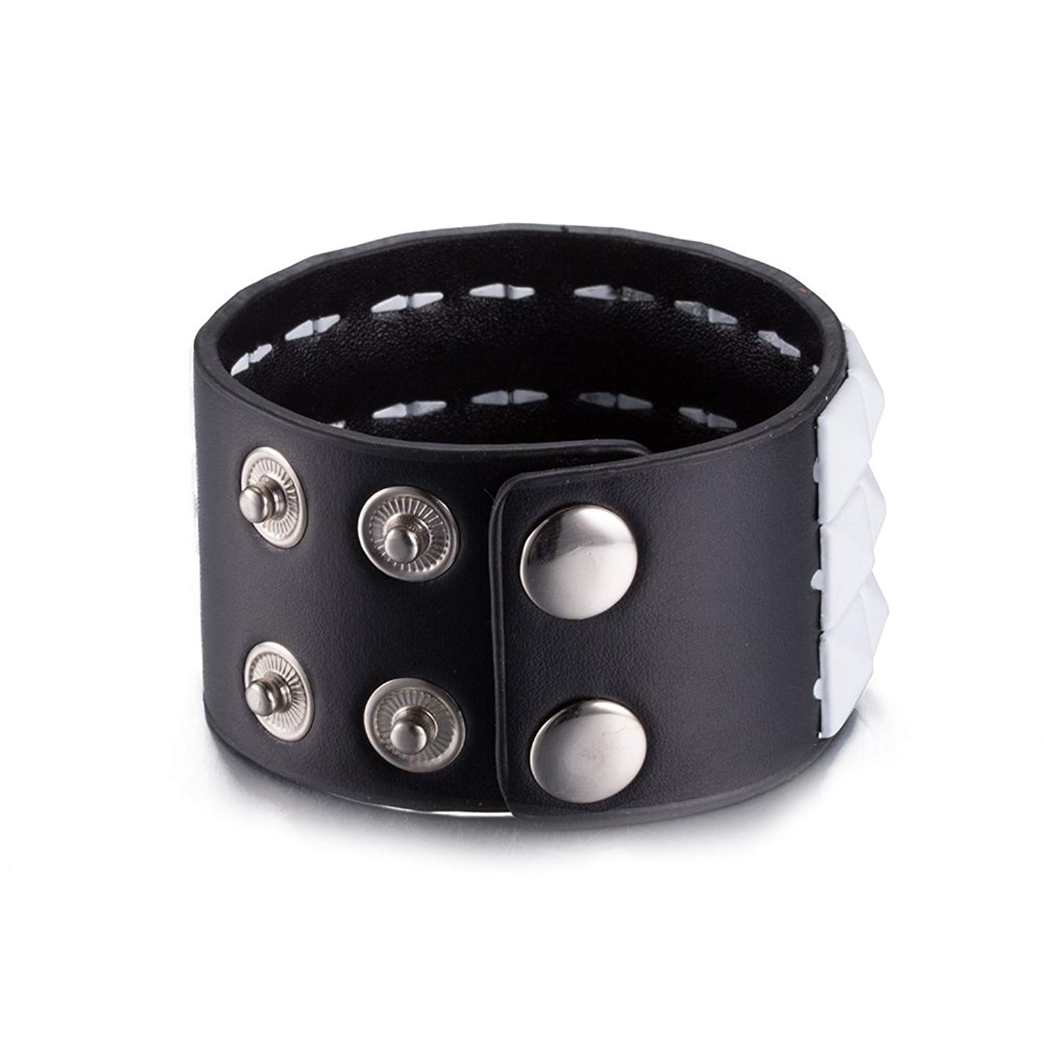 Fashion Unisex Charms Jewelry Plate With Silver Leather Popular Square Rope Chain Bracelets