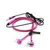 Cheap earphone whosale promotion zipper tangle free 3.5mm earphone with mic