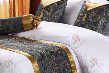 decorative hotel king size bed runners for bedding set meeting room sofa use cushion cover hotel. Black Bedroom Furniture Sets. Home Design Ideas