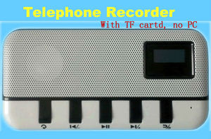 phones call recording device standalone telephones recorder supports 4/8/16GB TF card