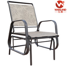 Outdoor single seat glider metal sling rocking chair