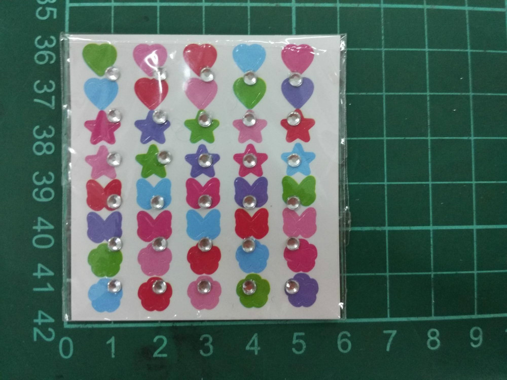 stock nail sticker stone sticker 3D sticker for nail art comply with EN71