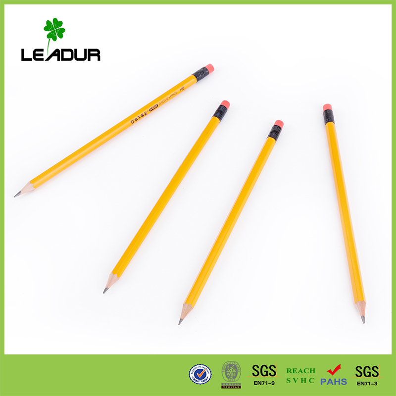 professional china Black pencil 2b with eraser