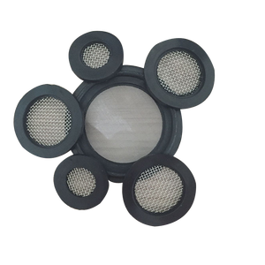 Stainless Steel Wire Mesh Filter Disc with Rubber Edge
