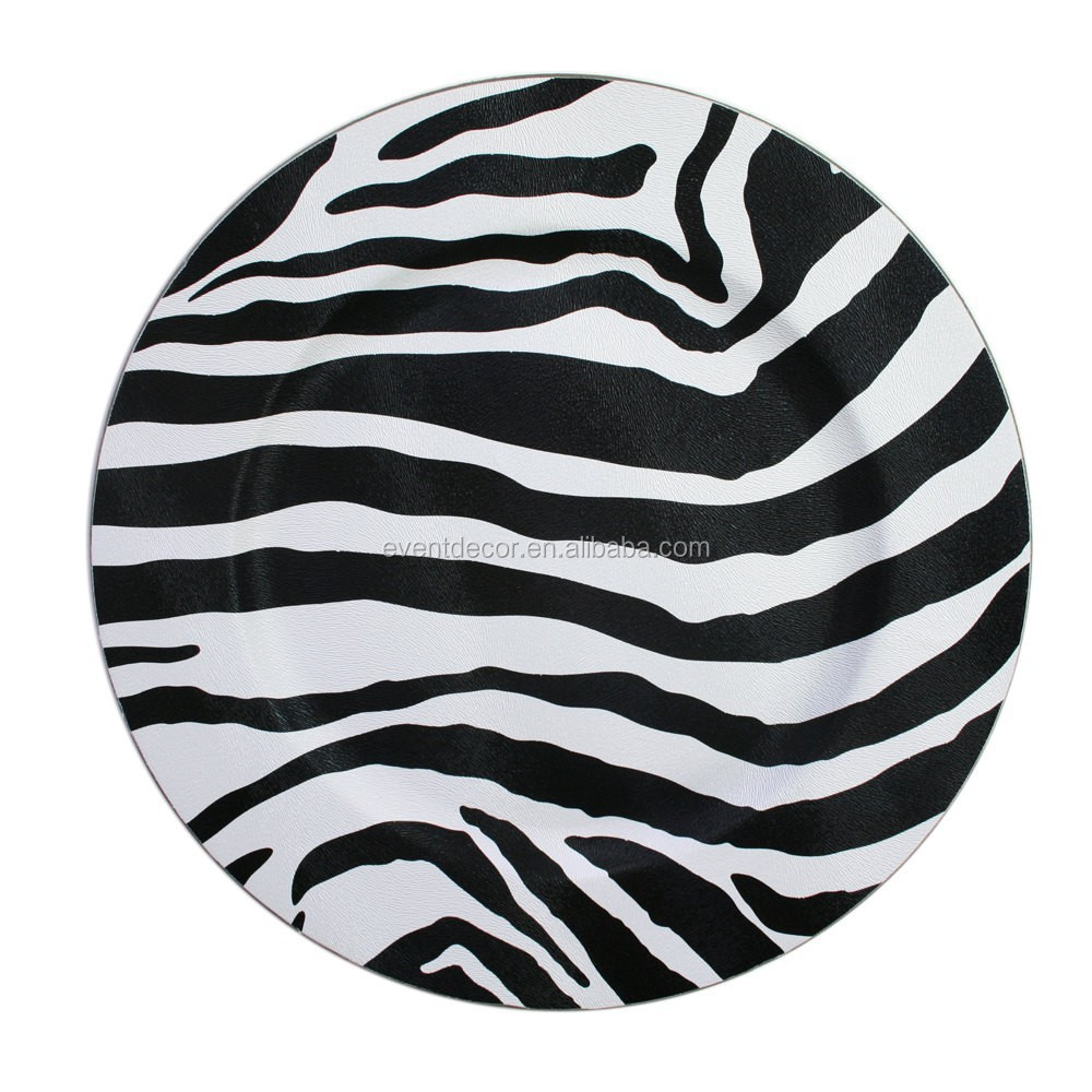 Black and white stripe charger plates - Zebra Stripe Plastic Charger Plates For Wedding Dinnerware Buy Zebra Charger Plates Wedding Decorative Zebra Plates Charger Plate With Zebra Stripe