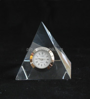 personalzied design geometry glass clock without frame