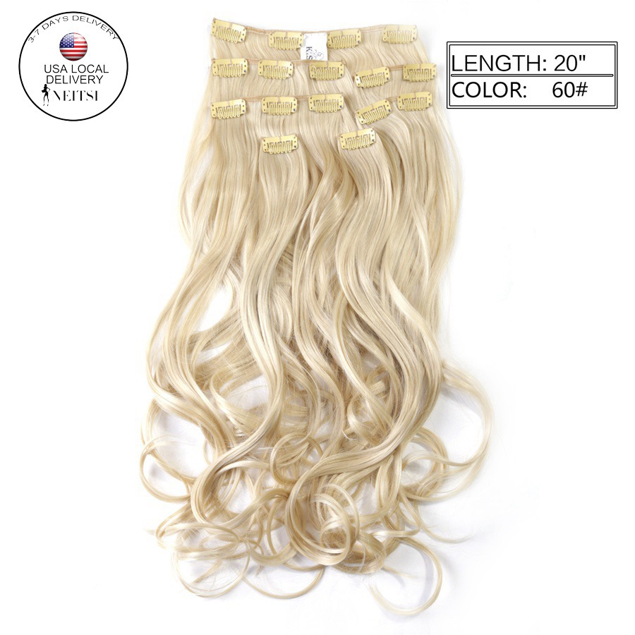 Buy Neitsi 7pcs 16clips Synthetic Clip Ins Curly Hair Extensions