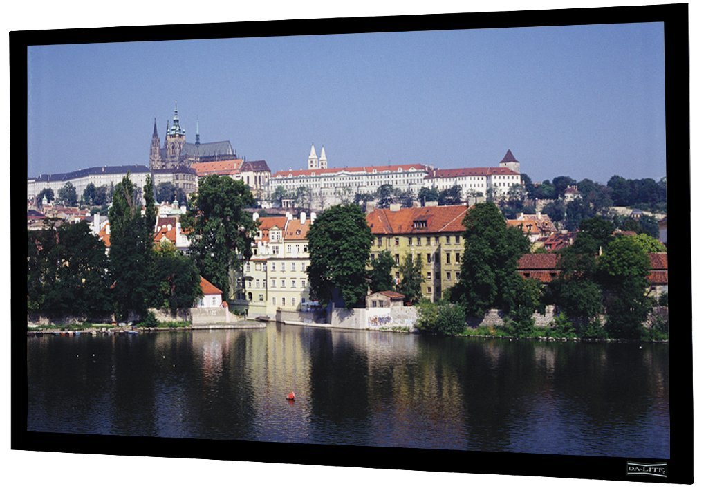 """Da-Lite Dual Vision Imager 78"""" X 139"""" Fixed Frame Projection Screen 159"""" Diagonal"""