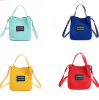 Factory Made colorful Canvas Tote Bag/casual shoulder Canvas Bag Women Handbag/long strap Canvas Shoulder Bag