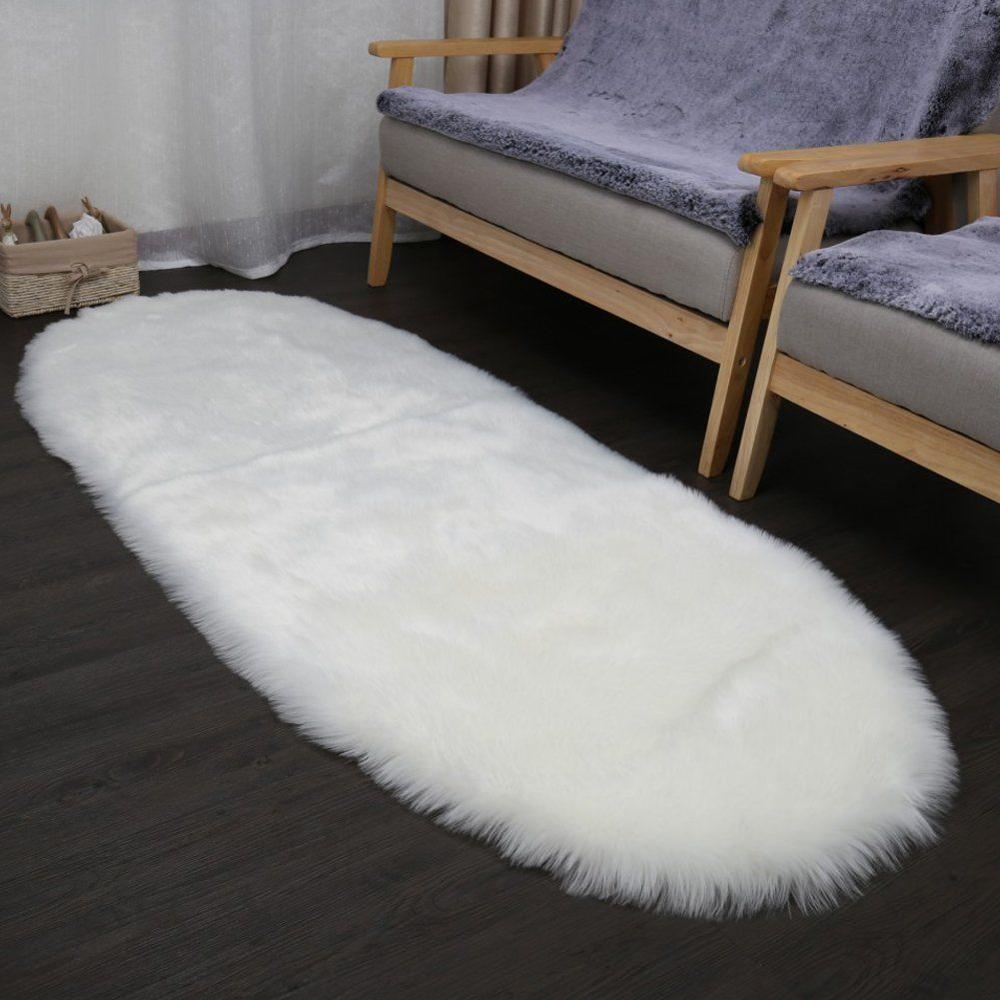 Soft Wool Sheep Skin Tip Color Faux Fur