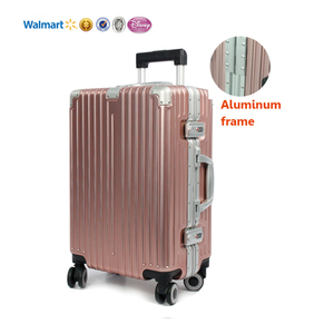 custom design ningbo luggage 20 inch 4 spinner wheels cheap abs aluminum trolley luggage