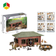 Farm Animal Play Set Toy With House