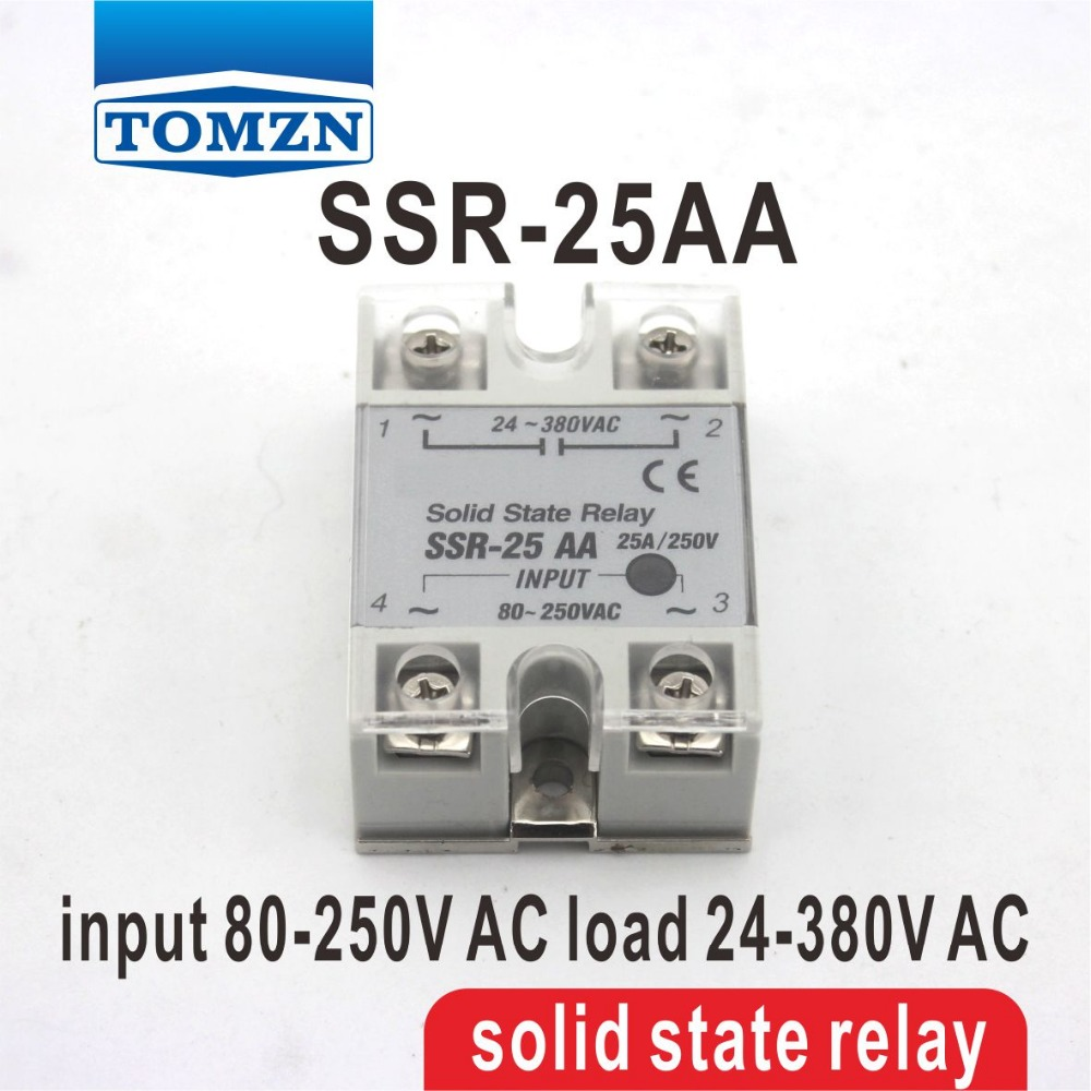25aa Ssr Input 80 250v Ac Load 24 380v Single Phase Solid State Relay For Buy Product On Alibabacom