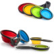 FDA approved Silicone Collapsible Folding Measuring Cups and Spoon Sets