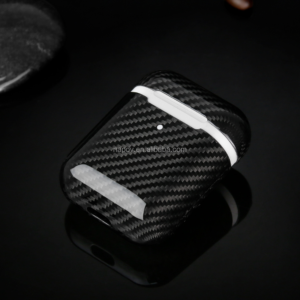 2019 Hot Selling Cover Real Carbon Fiber Case Slim Air pods Case Compatible for AirPods 2