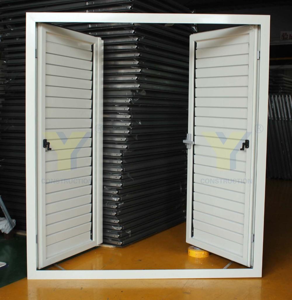 Exterior aluminum shutters aluminium double glazed - Aluminum window shutters exterior ...
