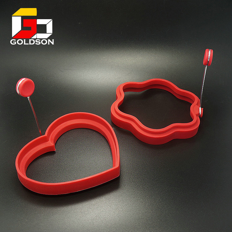 Non-stick Heart Shaped Silicone Fried Egg Molds egg tool