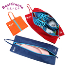 Customized design waterproof oxford materials shoe hood dust-proof zipper bags with tote