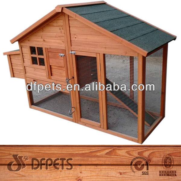 Casa de la gallina de pollo coop de madera conejera de madera conejo jaula pet caja patio home - Casas para gallinas ...
