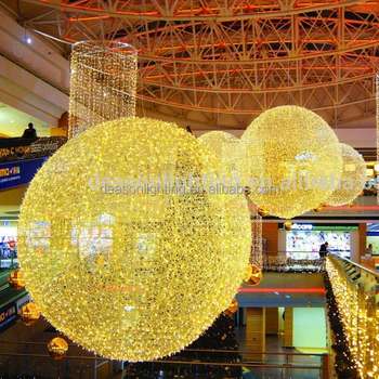 Shopping Mall Hanging Christmas Light Ball Atrium Decoration Buy Ceiling Hanging Christmas Ball Decorations Lighted Christmas Hanging Balls