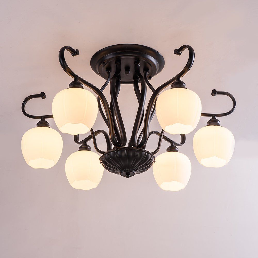 Cheap Wrought Iron Flush Mount Ceiling Light, find Wrought Iron ...