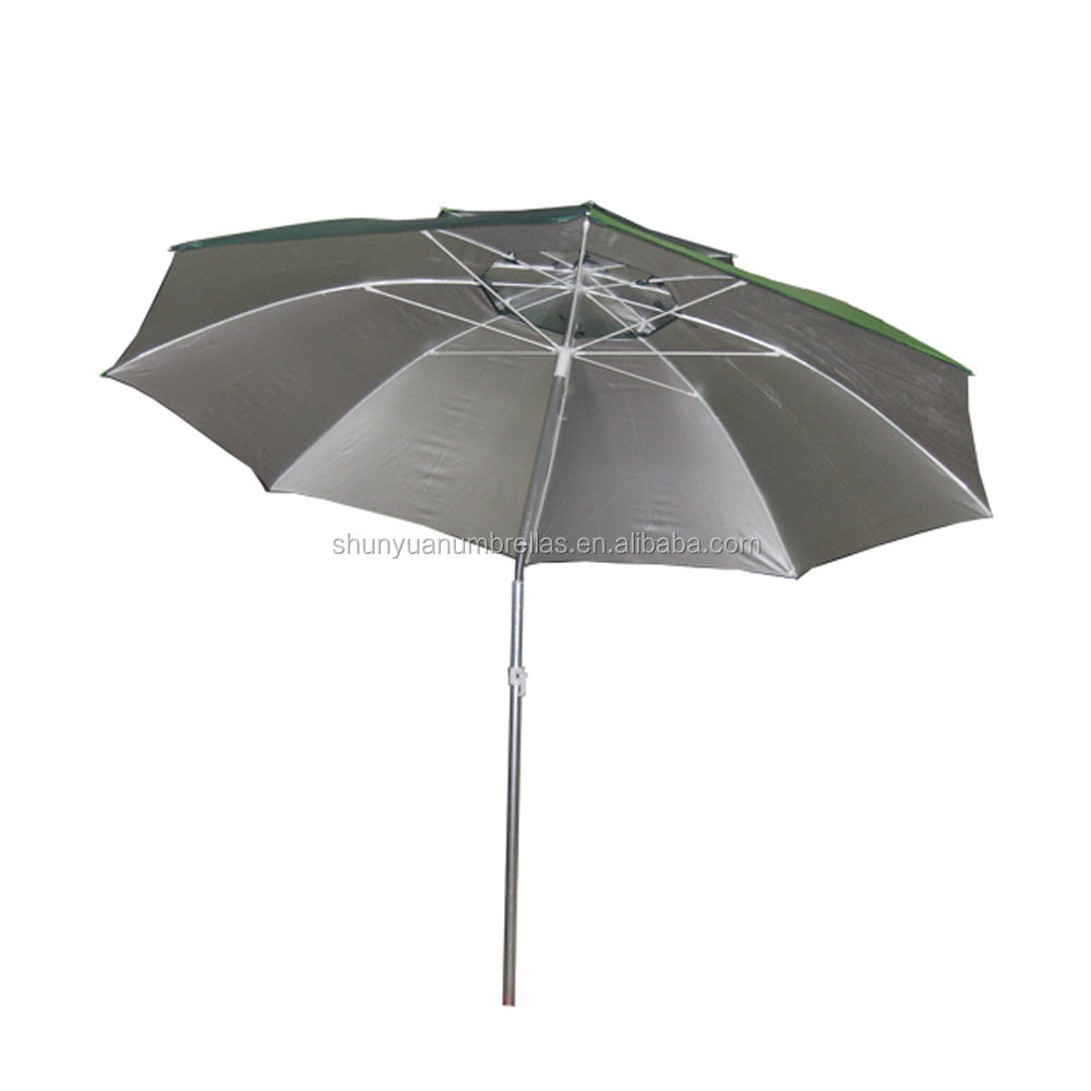 2M 210D oxford with silver coating fabric front opening  fishing umbrella
