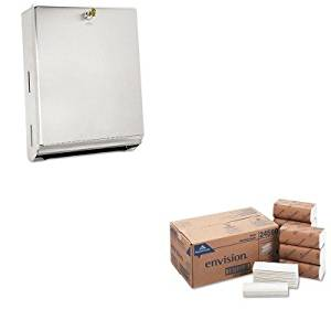 KITBOB262GEP24590 - Value Kit - Georgia Pacific Multifold Paper Towels (GEP24590) and Bobrick ClassicSeries 262, Stainless Steel Surface-Mounted C Fold and Multifold Paper Towel Dispenser (BOB262)