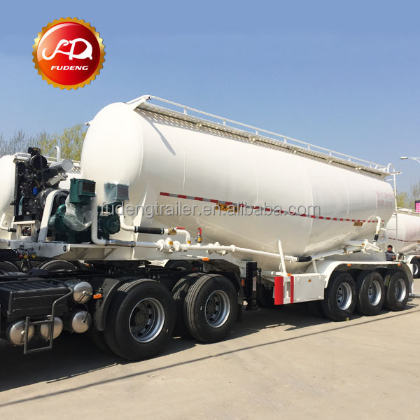 fly ash transport three axles cement bulker trailer for pakistan