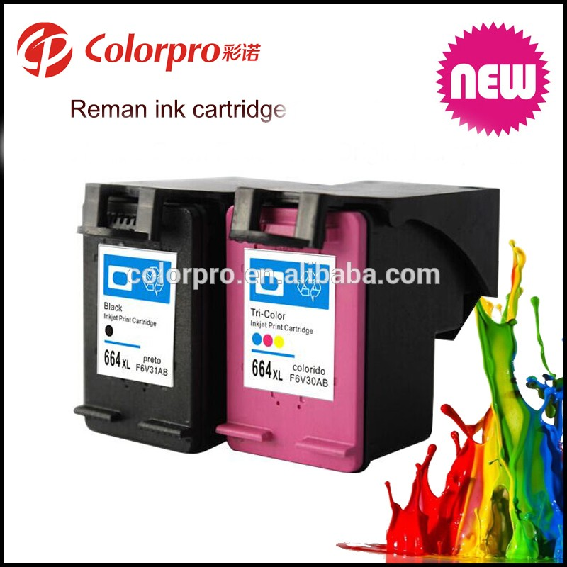 For Hp 664 Inks Chip Reset To Full Level Ink Cartridge For Hp 664 ...
