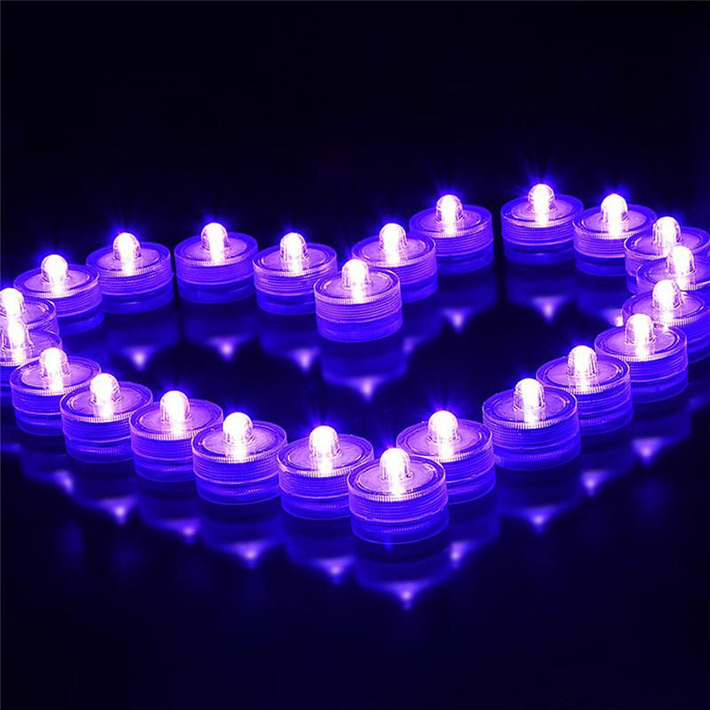 10pcs lot Romantic Waterproof Submersible LED Tea Light Electronic Candle Light for Wedding Party Christmas Valentine