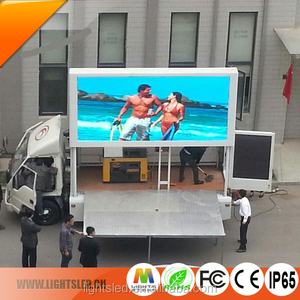 P6 WIFI LED Mobile Truck Flashing Sticker Display,Outdoor Waterproof LED Advertising Board Stadium Screen TV Trailer Sign