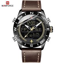 Часы NAVIFORCE мужские, армейские, армейские, спортивные, светодиодные, цифровые, кварцевые, 9144(Китай)