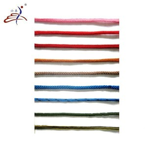 best quality round multicolored braided polyester drawstring cord