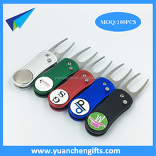 Stock golf automatic divot tools / auto stainless steel pitch forks
