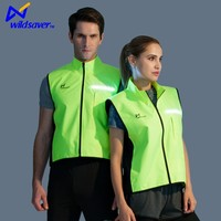 Custom reflective windproof sublimation cycling jerseys with led