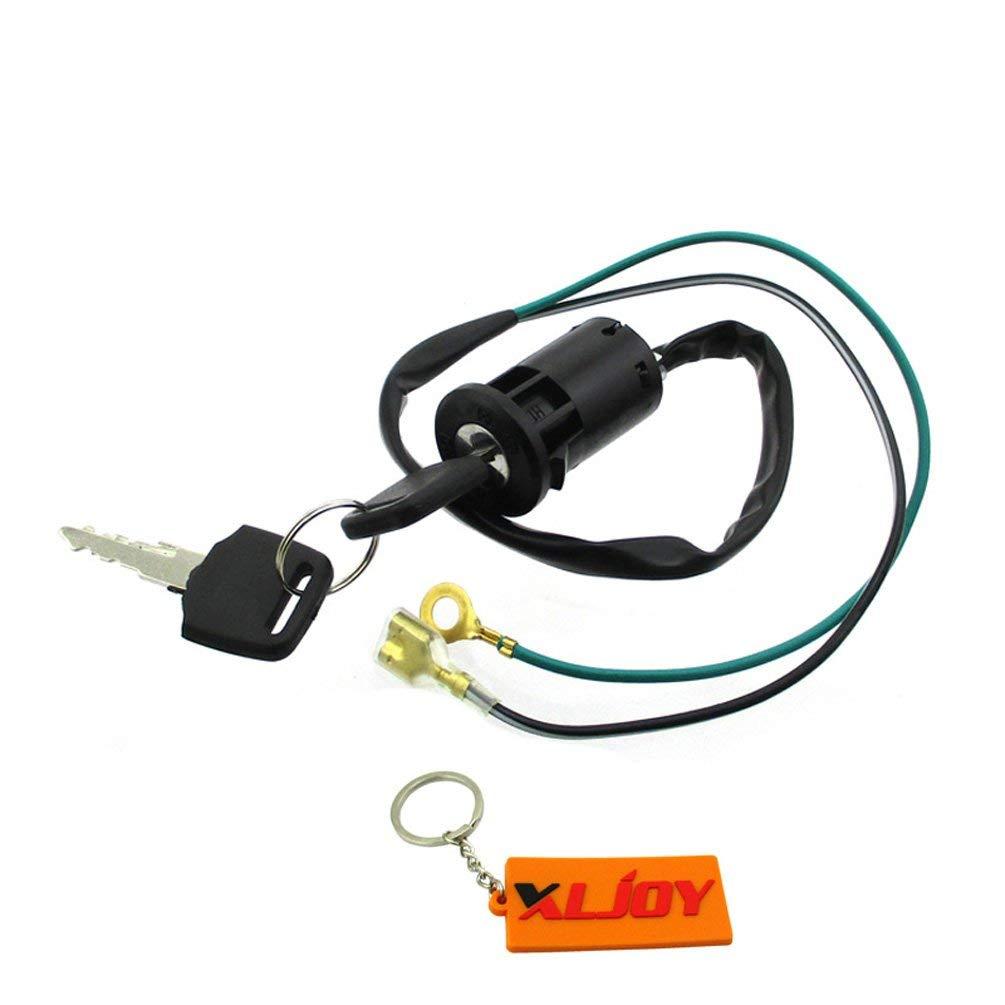 Get Quotations · XLJOY 2 Wire Ignition Key Switch For Mini Dirt Pocket Bike  ATV Quad Go Kart Moto