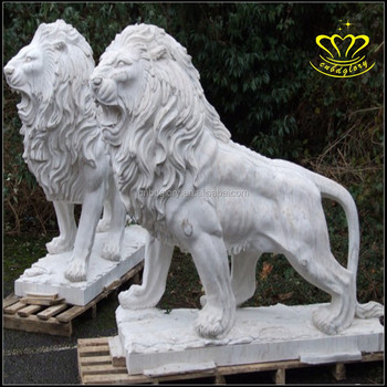 Outdoor Garden Decoration Stone Carving Big Stone Lion Statue For Sale