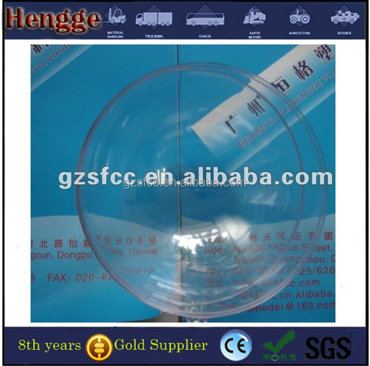 Custom size printing clear acrylic hollow plastic balls for christmas decoration