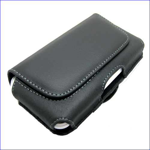 M&E Leather Case Belt Clip Pouch Cover Skin For HTC Wildfire S