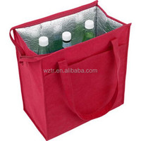2015 promotional insulated cooler lunch tote bag for bottle