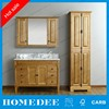 48 inch hot sale unfinish rustic bathroom vanity cabinet with mirror