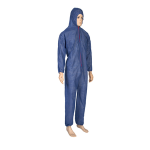 Summer coverall workwear protective dustproof disposable paint inpervious PP jumpsuit coverall
