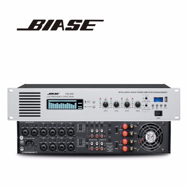 Strongly recommend audio mixer intelligent professional audio power amplifiers management FQA-8400