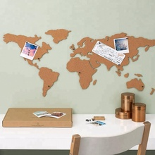 2018 Non-toxic Wall Decorative Adhesive World Map Cork