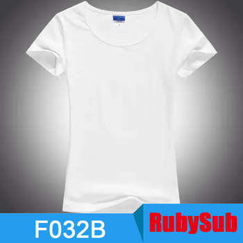 f61f20fd387b27 Solf Touch Sublimation Blanks White Moder Polyester Women Sublimation t  shirt for Sublimation Printing in Stock