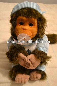 Baby Monkey Toy Stuffed Little Monkey Doll New Year Toys