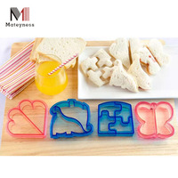 Set of 4 Plastic Bread Cutter Sandwich Cutter With Fun Shapes